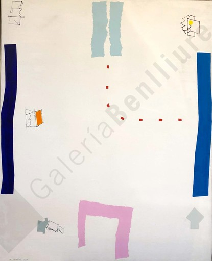 Manuel HERNÁNDEZ MOMPO - Painting - Viejos jugando