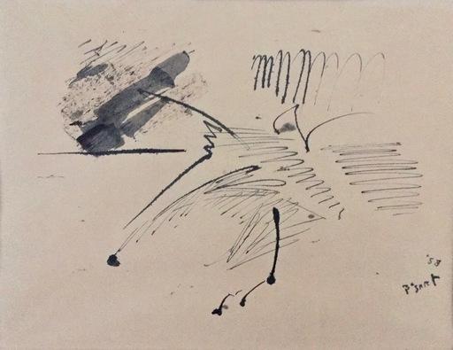 Bram BOGART - Drawing-Watercolor - Untitled - informal drawing
