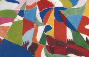 """Giacomo BALLA - Drawing-Watercolor - """"Sventolamento"""""""