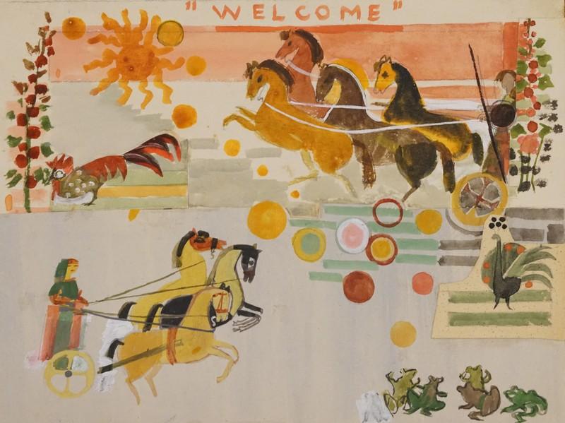 Marguerite AMMANN - Zeichnung Aquarell - Welcome