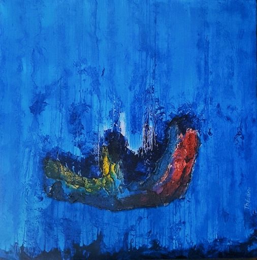 Theodora BERNARDINI - Painting - Pénétrer les ondes