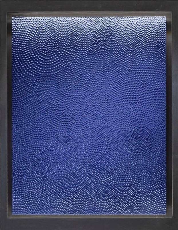 Jane PUYLAGARDE - Peinture - Bleu de Prusse