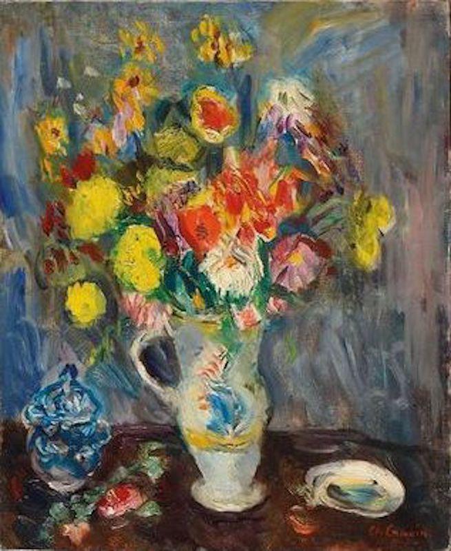 Charles CAMOIN - Pittura - Nature morte au vase de fleurs