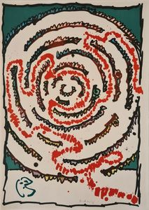Pierre ALECHINSKY - Print-Multiple - Labyrinthe d'apparat III