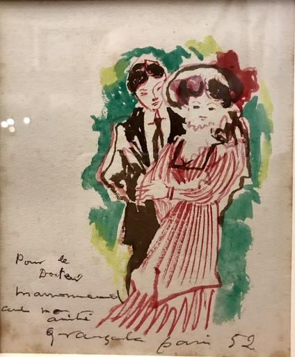 Emilio GRAU-SALA - Drawing-Watercolor - Le Couple