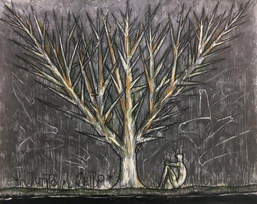 José BEDIA VALDÉS - Painting - Junto al ceibo