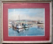 René LEFORESTIER - Drawing-Watercolor - port en bretagne
