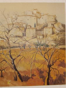 Guy SÉRADOUR - 版画 - Village de Provence,1985
