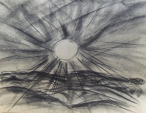 Friedrich EINHOFF - Drawing-Watercolor - #20014: Strahlende Sonne.