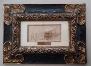 REMBRANDT VAN RIJN - Disegno Acquarello - Landscape  in Holland