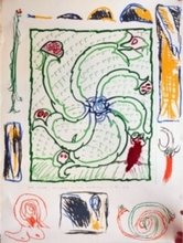Pierre ALECHINSKY (1927) - Fleurs et Serpent