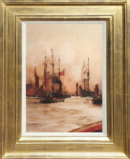 Charles Edward DIXON - Dessin-Aquarelle - Towards Evening, 1906