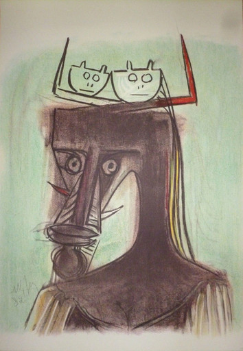 Wifredo LAM - Print-Multiple - Artistes du monde contre l'apartheid