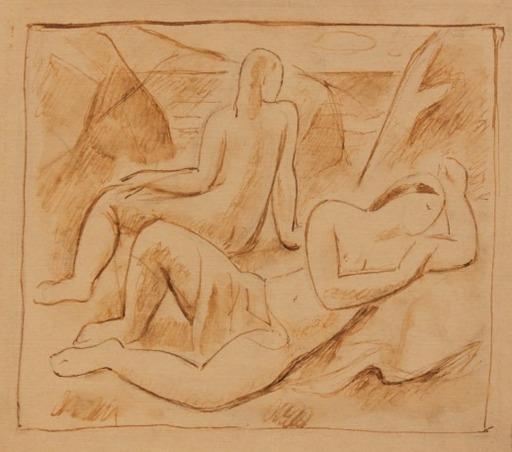 Aurelio ARTETA - Drawing-Watercolor - Desnudos