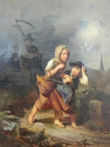 Rudolf HIRTH DU FRENES - Peinture - Flucht vor dem Gewitter
