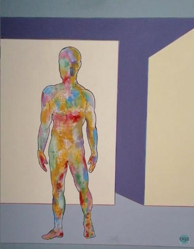 Renato MAMBOR - Pittura - Uomo succoso