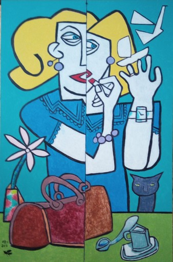 Harry BARTLETT FENNEY - Pittura - la femme sur le point de partir