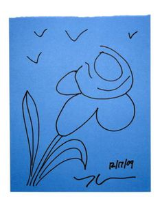 Jeff KOONS - Dessin-Aquarelle - Flower 1