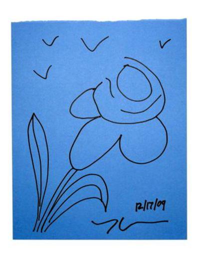 Jeff KOONS - Disegno Acquarello - Flower 1