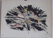 Alfred MANESSIER - Grabado - LITHOGRAPHIE 1971 SIGNÉ CRAYON NUM/85 HANDSIGNED LITHOGRAPH
