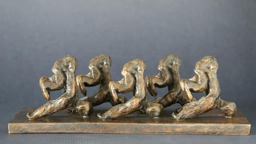 Christian LIGNAIS - Skulptur Volumen - Des hommes rangés