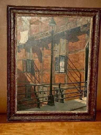 Hans QUAST - Painting - Zollenbrücke in Hamburg