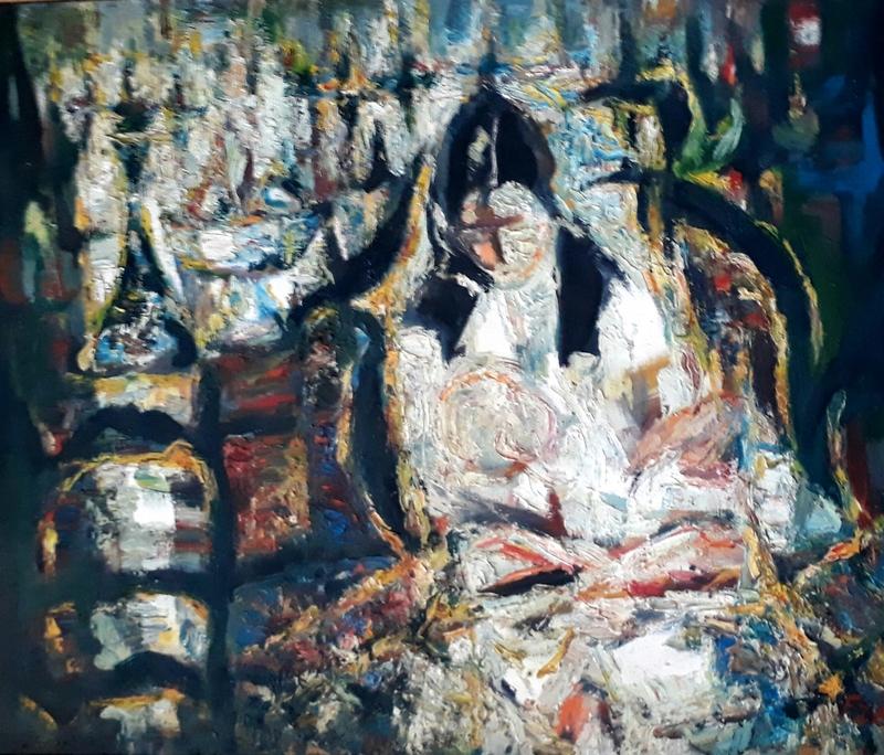 Yitzhak FRENKEL-FRENEL - Painting - Motherhood