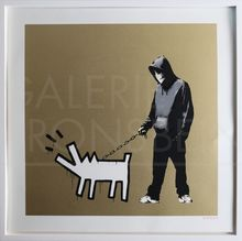 BANKSY - Estampe-Multiple - Choose Your Weapon (Gold) signed