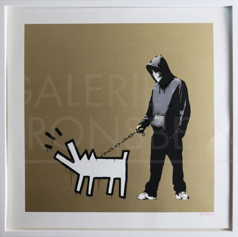 BANKSY - Print-Multiple - Choose Your Weapon (Gold) signed