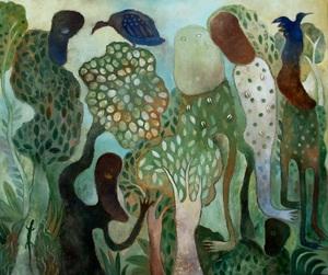 Manuel MENDIVE - Painting - La Foresta Magica