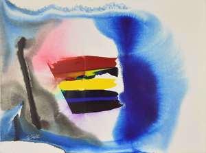 Paul JENKINS - Painting - Phenomena White of the Tiger