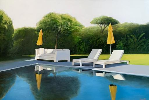 Daniel RAYNOTT - Pittura - Les parasols