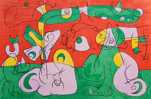 Joan MIRO - Estampe-Multiple - Bougrelas and his Mother III, from: Series for King Ubu | Bo