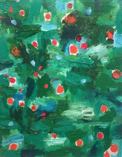Nicola DE MARIA - Painting - Alle muse del bosco (spirito bianco)