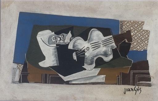 Juan GRIS - Gemälde - NATURE MORTE AU COMPOTIER ET AU VIOLON