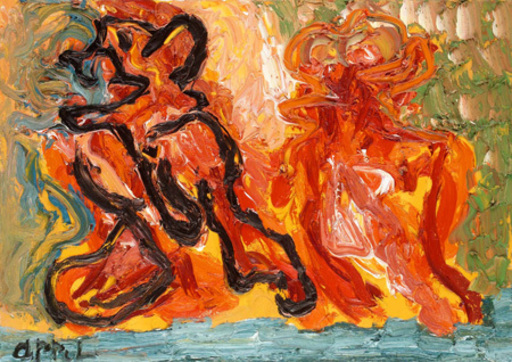 Karel APPEL - Pittura - This work has recently been stolen from our gallery.