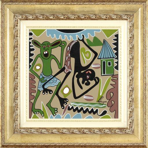 George LILANGA - Painting - Mimi natafu to sehemu ya kupumzui ka nimecho ka sana