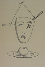 MAN RAY - Estampe-Multiple - Untitled from 'Les six masques voyant' portfolio