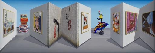 Patrick HUGHES - Painting - Pop Shop