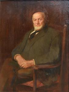 Maurice FROMKES - Painting - Portrait of a Gentleman