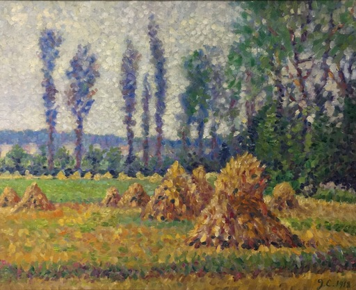 Gustave CARIOT - Painting - Les meules