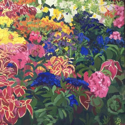 Delphine LACROIX - Peinture - Lit de Fleurs