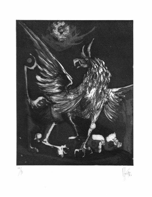 Nag ARNOLDI - Grabado - A Delfi, del Grifone