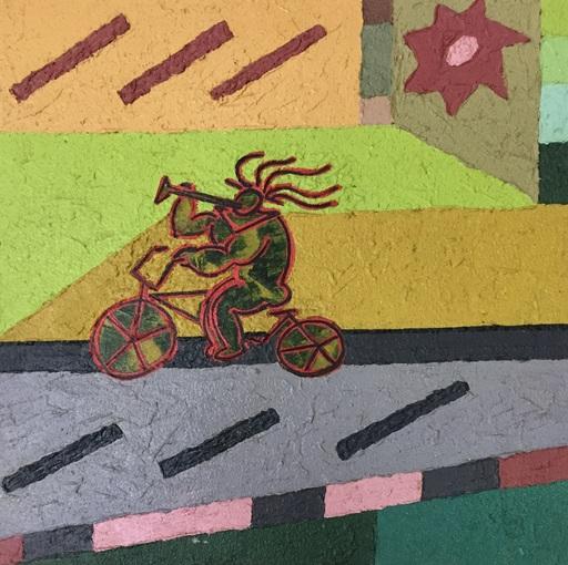 Piero MAGGIONI - Painting - Ciclista