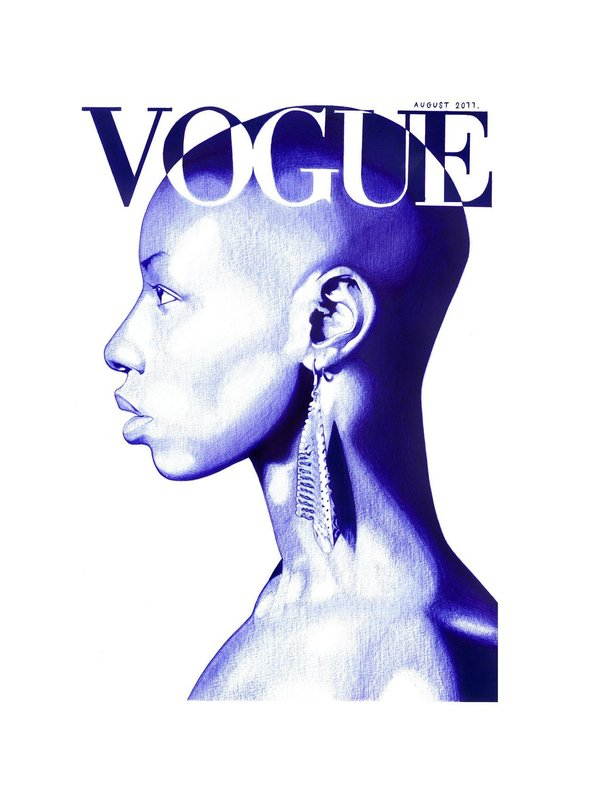 Wayne DANZA - Drawing-Watercolor - Vogue Africa August 2011