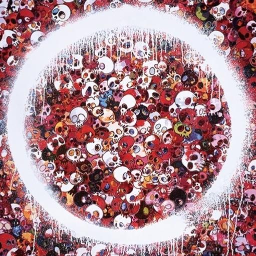 Takashi MURAKAMI - Print-Multiple - Enso Memento Mori Red