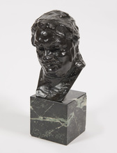 Auguste RODIN - Escultura - Balzac, étude C (buste), 3ème version, petit modèle