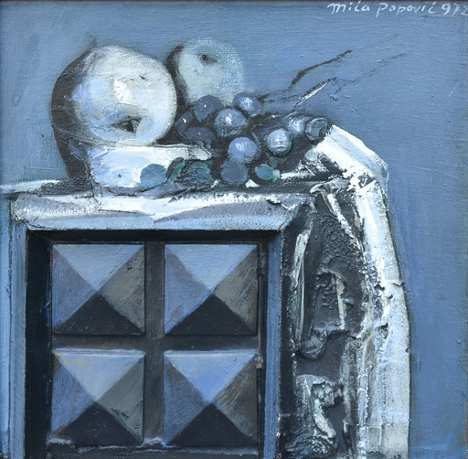 Mica POPOVIC - Pintura - Study in Blue