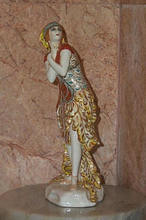 "Léon BAKST - Ceramic - Porcelain figure of Karsavina in ""Fire-Bird""."