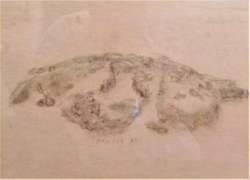 Zoran Antonio MUSIC - Drawing-Watercolor - collina dalmata